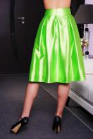 черная юбка с бантом. юбка мод. №10. Цвет: салатный