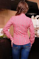 Модная женская блузка цвета электрик в клетку. блуза Шериф д/р. Цвет: красный-клетка купить