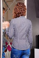 Модная женская блузка цвета электрик в клетку. блуза Шериф д/р. Цвет: черный-клетка купить