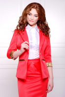 стильный пиджак красного цвета. пиджак Леонора. Цвет: красный купить