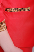 стильный пиджак красного цвета. пиджак Леонора. Цвет: красный цена