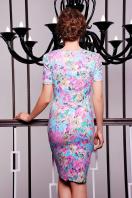 летнее платье футляр с цветами. платье Энжи к/р. Цвет: мята-цветы купить