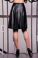 юбка черного цвета из искусственной кожи. юбка мод. №7/2. Цвет: черный купить