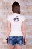 . Велосипед Футболка-1. Цвет: принт