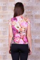 розовая футболка с пионами. Dior Футболка-1. Цвет: принт купить