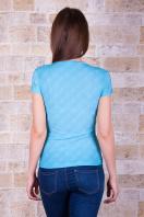 голубая футболка с надписями. Exellence Футболка-1. Цвет: принт купить