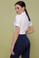 Женская белая рубашка с коротким рукавом. блуза Норма к/р. Цвет: белый купить