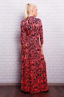 длинное платье с воротником стойка. платье Шарлота2 д/р. Цвет: ультра роз.-т.синий узор цена