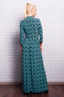 длинное платье с воротником стойка. платье Шарлота2 д/р. Цвет: мята-т.синий узор купить