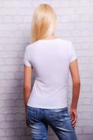 белая футболка с принтом в украинском стиле. Трезубец Футболка-2В. Цвет: принт купить