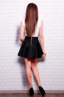 Короткая расклешенная юбка темно-синего цвета. юбка Клин Мэмори. Цвет: черный