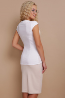 белая летняя блузка без рукавов. блуза Флори к/р. Цвет: белый в интернет-магазине