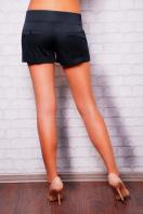 короткие белые женские трикотажные шорты из костюмной ткани. шорты Хилтон2 (короткие). Цвет: черный купить