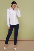 Женская белая блуза классического кроя. блуза Норма д/р. Цвет: белый купить