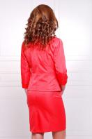 черный приталенный пиджак. пиджак Рандеву. Цвет: красный-красная отделка купить