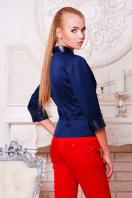 черный приталенный пиджак. пиджак Рандеву. Цвет: т.синий-т.синяя отделка купить