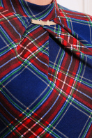 трикотажное платье в пол. платье Шарлота3 д/р. Цвет: синий-красная клетка купить