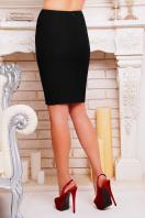 Черная прямая юбка. юбка мод. №16. Цвет: черный