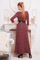 Серое платье макси, украшенное лапкой и розами. платье Шарли д/р. Цвет: т.синий-красн.м.клетка купить