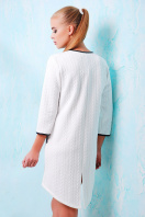 молодежное серое платье. платье Фрэнки д/р. Цвет: белый-черная отделка купить