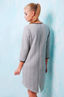 молодежное платье с надписью. платье Фрэнки д/р. Цвет: серый-черная отделка купить