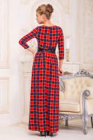 Серое платье макси, украшенное лапкой и розами. платье Шарли д/р. Цвет: красный-синий б.клетка купить