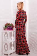 фиолетовое платье в пол. платье Шарлота4 д/р. Цвет: синий-красная клетка купить