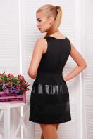 платье черного цвета с кожаными вставками. платье Шакира б/р. Цвет: черный-кожа купить