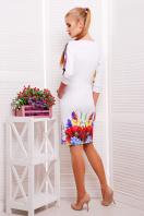платье тюльпан с рукавом три четверти. Маки платье Эльза д/р. Цвет: принт купить