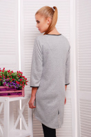 молодежное платье с надписью. платье Фрэнки д/р. Цвет: серый ромб-черн. отделка купить