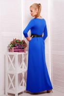 изумрудное платье длины макси. платье Шарли3 д/р. Цвет: электрик купить