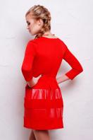 черное короткое платье. платье Шакира д/р. Цвет: красный-кожа купить