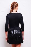 черное короткое платье. платье Шакира д/р. Цвет: черный-кожа купить