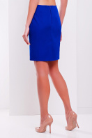 прямая синяя юбка до колен. юбка мод. №1. Цвет: электрик