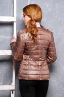 короткая женская куртка на осень цвета пудра. куртка Квин. Цвет: темно бежевый купить