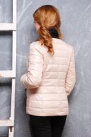 короткая женская куртка на осень цвета пудра. куртка Квин. Цвет: светло бежевый купить
