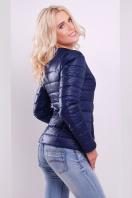 короткая женская куртка на осень цвета пудра. куртка Квин. Цвет: синий купить