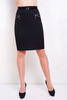 деловая черная юбка. юбка мод. №17. Цвет: черный купить