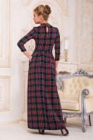 фиолетовое платье в пол. платье Шарлота4 д/р. Цвет: синий-зеленый клетка купить