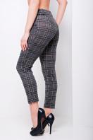стильные женские брюки в клетку. брюки Эдема. Цвет: серая клетка купить