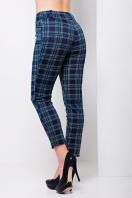 стильные женские брюки в клетку. брюки Эдема. Цвет: синий-зеленый клетка купить