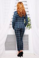 стильные женские брюки в клетку. брюки Эдема. Цвет: синий-зеленый клетка в интернет-магазине