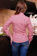 Модная женская блузка цвета электрик в клетку. блуза Шериф д/р. Цвет: бордовый-клетка купить