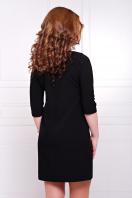 темно-синее платье прямого кроя. платье Элика д/р. Цвет: черный