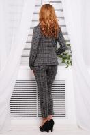 серый клетчатый пиджак. пиджак Эдем д/р. Цвет: серая клетка