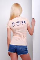 персиковая футболка с пандой. Size panda Футболка-1В. Цвет: принт купить