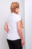 белая блузка большого размера. Блуза Марта-Б к/р. Цвет: белый купить
