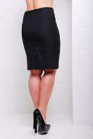 черная юбка карандаш из костюмного шелка больших размеров. юбка мод. №16 Б. Цвет: черный
