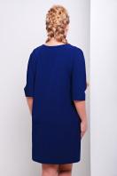 синее трикотажное платье свободного кроя для полных. платье Элика-Б д/р. Цвет: темно синий купить