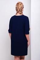 синее трикотажное платье свободного кроя для полных. платье Элика-Б д/р. Цвет: серо синий купить